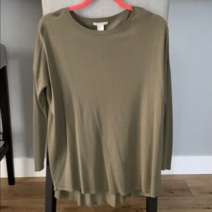 Olive green tunic XS